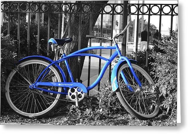 Blue Bike Greeting Card