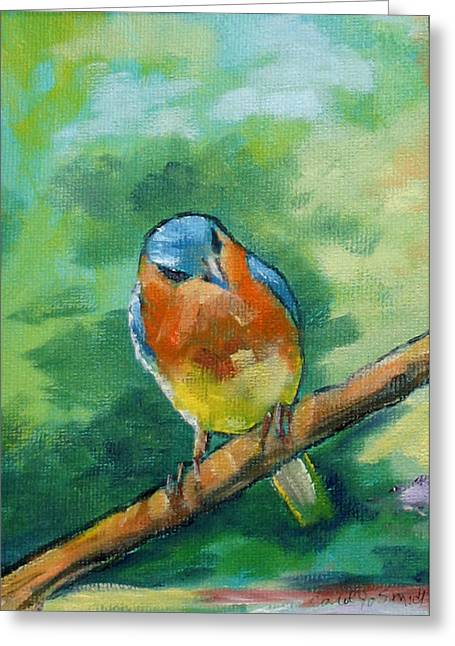 Blue Bird 1 Greeting Card