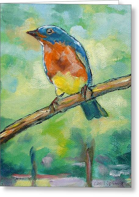 Blue Bird 2 Greeting Card