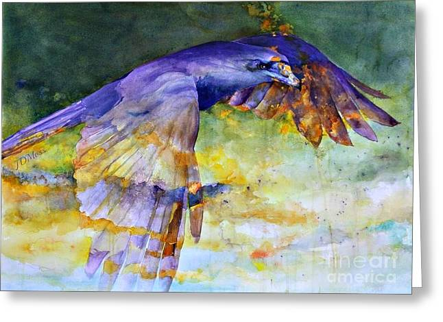 Blue Bird Greeting Card by Janet Moss