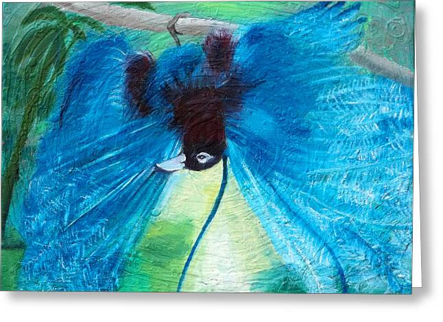 Blue Bird Of Paradise Greeting Card