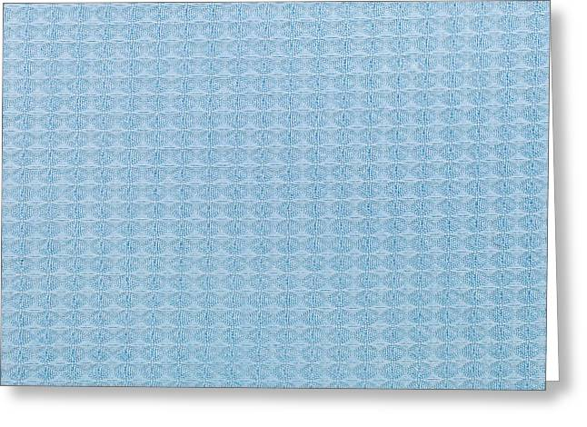 Blue Blanket Greeting Card by Tom Gowanlock