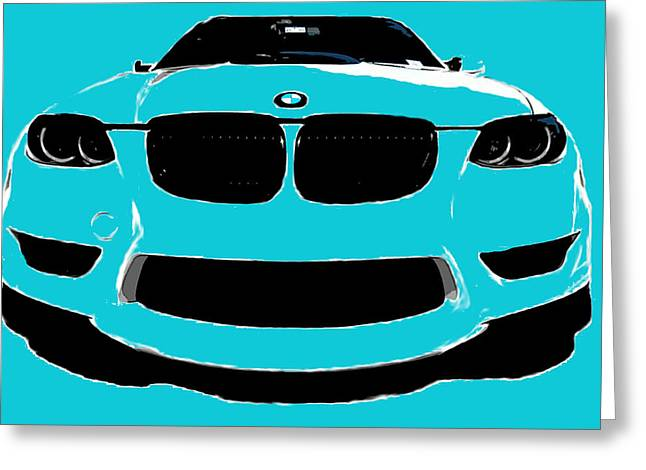 Blue Bmw Greeting Card by J Anthony