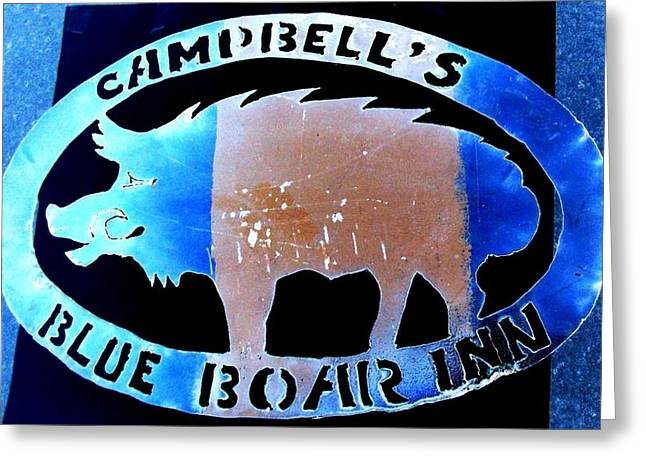 Greeting Card featuring the photograph Blue Boar Inn II by Larry Campbell