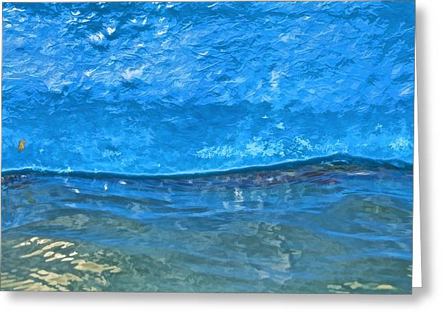 Blue Boat Abstract Greeting Card by David Letts