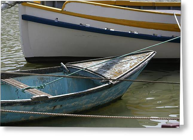 Blue Boat Camargue Greeting Card