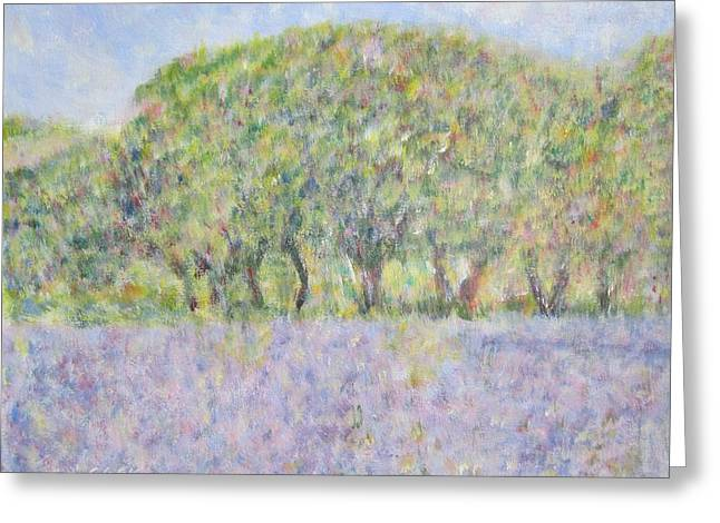 Blue Bonnets  Field In  Texas Greeting Card