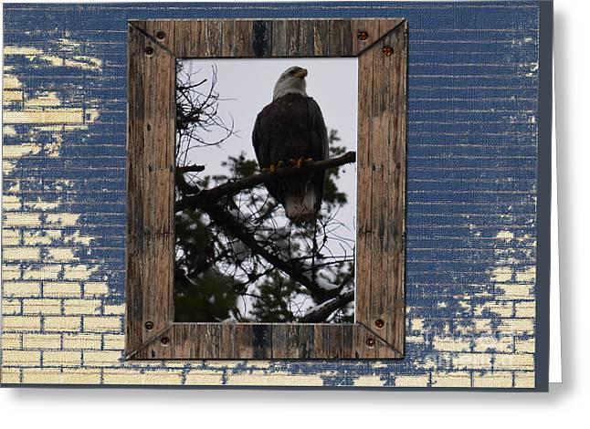 Blue Brick Greeting Card by Greg Patzer