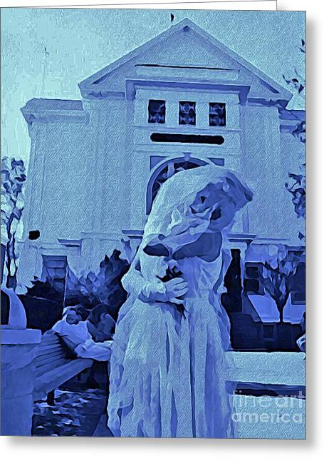 Blue Bride Greeting Card by John Malone