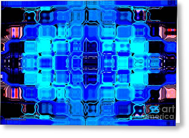 Blue Bubble Glass Greeting Card