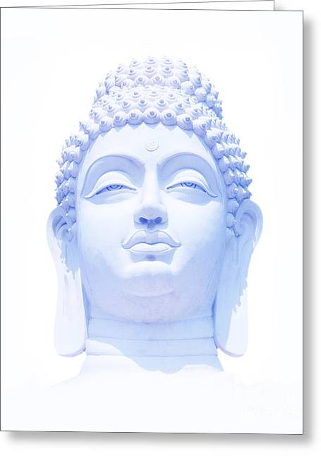 Blue Buddha Greeting Card by Tim Gainey