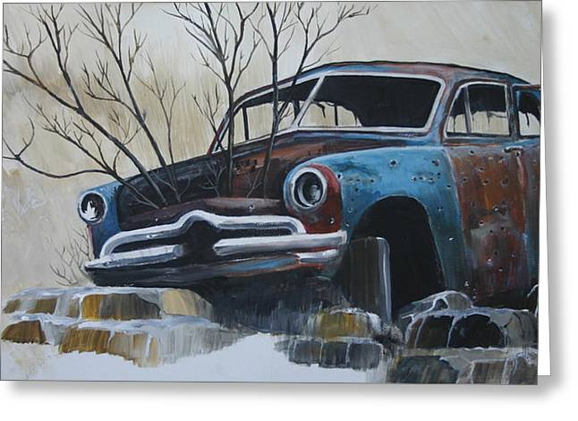 Blue Bullet Greeting Card by Gregory Peters