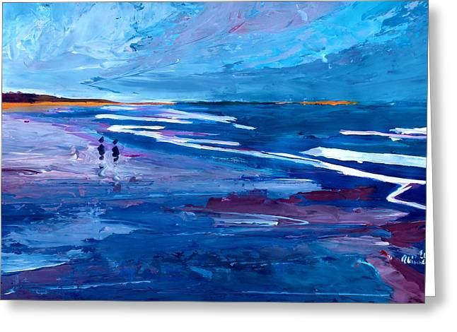 Blue Californian Seascape In Big Sur Greeting Card by M Bleichner