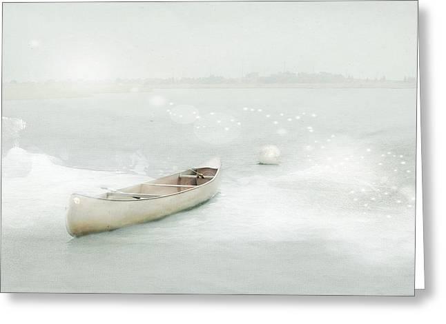 Blue Canoe Greeting Card