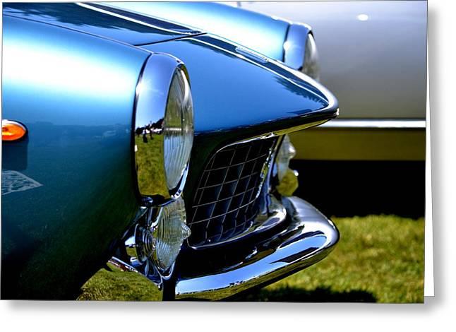 Greeting Card featuring the photograph Blue Car by Dean Ferreira