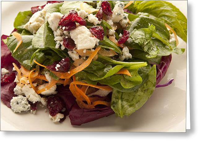 Blue Cheese Salad Greeting Card
