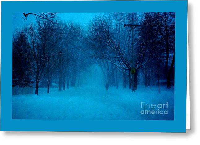 Blue Chicago Blizzard  Greeting Card