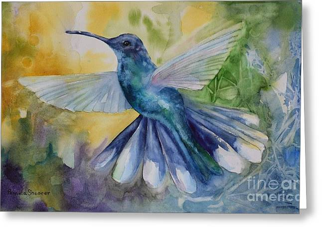 Blue Chitter Greeting Card