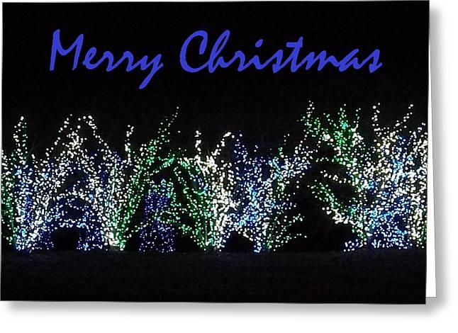 Blue Christmas Greeting Card by Darren Robinson