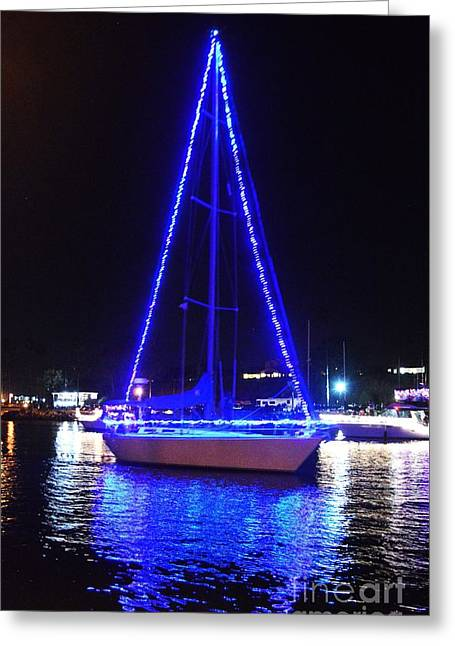 Greeting Card featuring the photograph Blue Christmas  by Laurie Lundquist