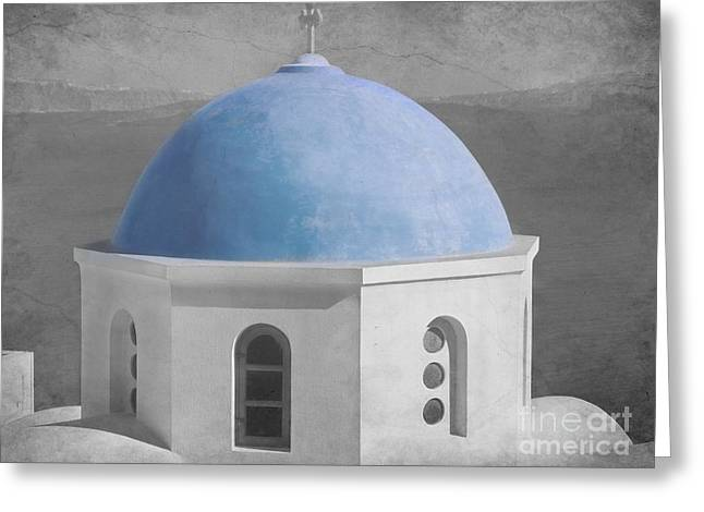 Blue Church Dome Greeting Card by Sophie Vigneault