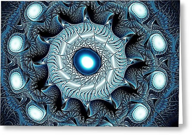 Blue Circle Greeting Card by Anastasiya Malakhova