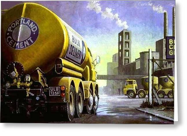 Blue Circle Foden Greeting Card by Mike  Jeffries