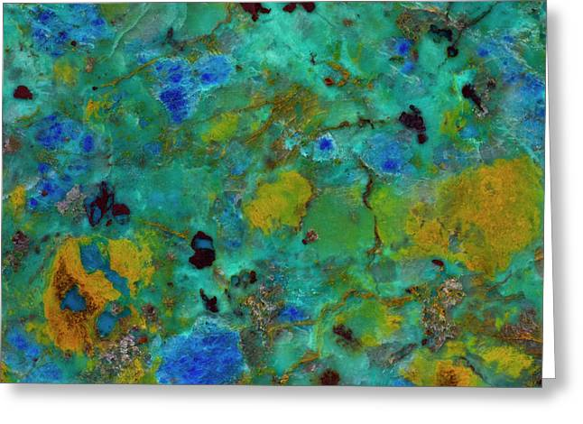 Blue Cliff Chrysocolla Greeting Card by Darrell Gulin