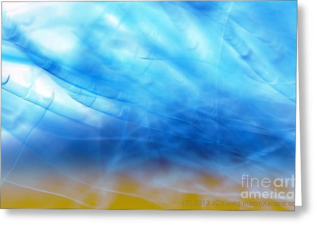 Blue Cloud Greeting Card by JCYoung MacroXscape
