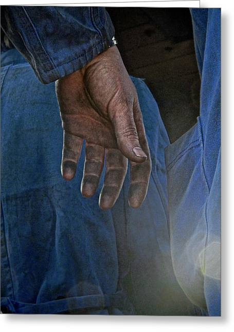 Blue Collar Greeting Card