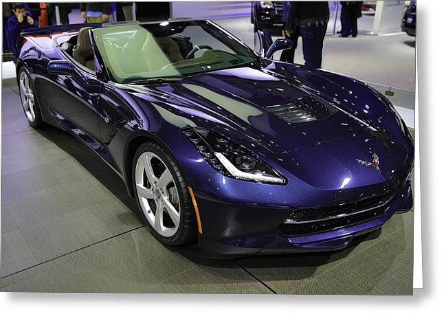 Blue Corvette Stingray Greeting Card