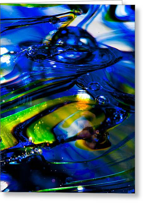 Blue Crystal Greeting Card by David Patterson