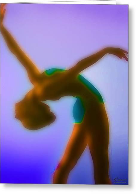 Blue Dance Greeting Card by Tony Rubino