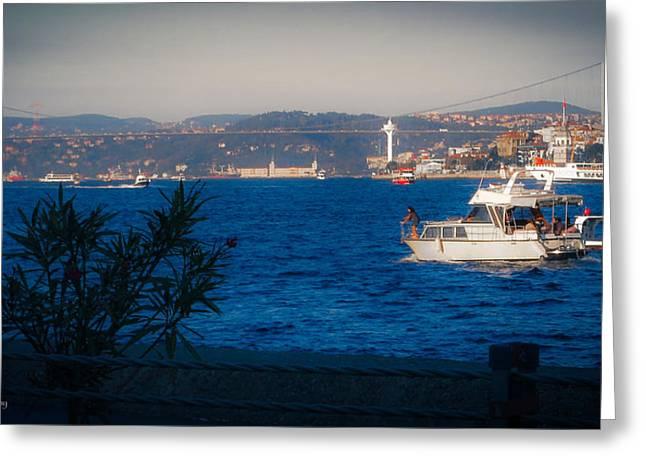 Blue Dawn On The Bosphorus Greeting Card