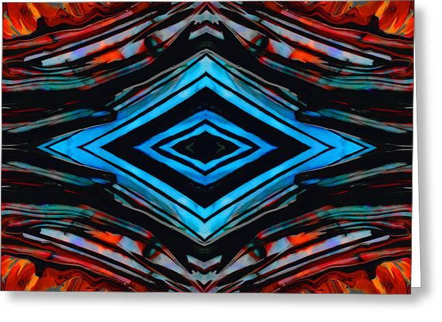 Blue Diamond Art By Sharon Cummings Greeting Card by Sharon Cummings
