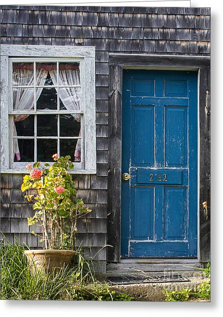 Blue Door Greeting Card by Benjamin Williamson