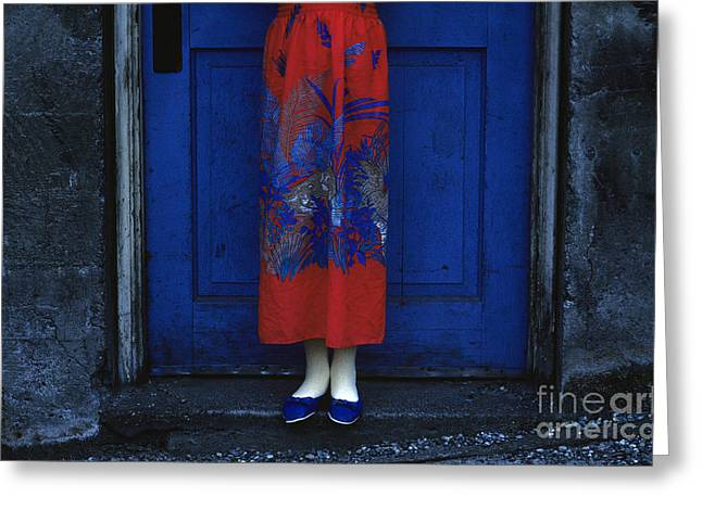 Blue Door Colorful Dress Greeting Card