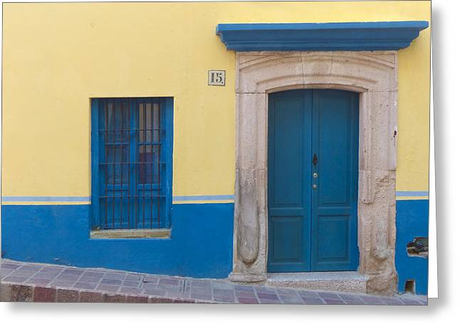 Blue Door Greeting Card by Douglas J Fisher