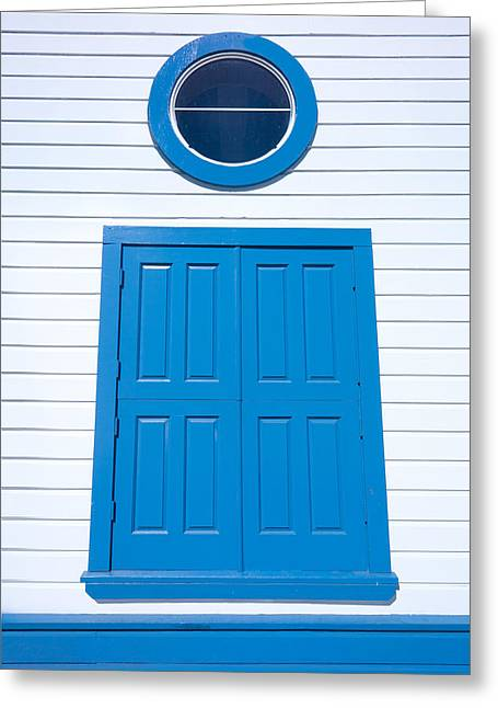 Blue Door Fisherman's Wharf San Francisco Greeting Card