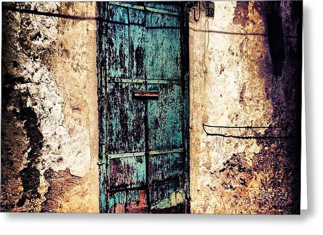 Blue Door Greeting Card by H Hoffman