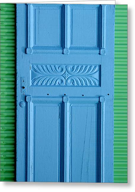 Blue Door Greeting Card