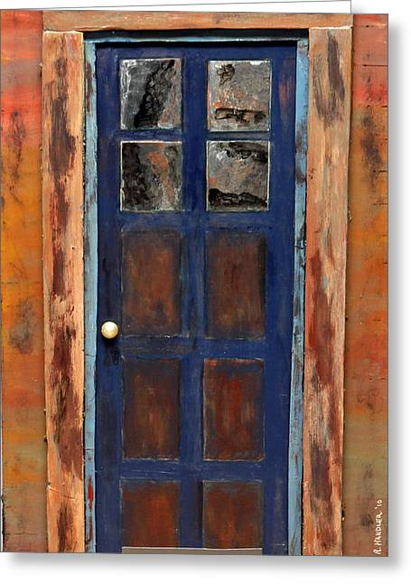 Blue Door Wyoming Greeting Card