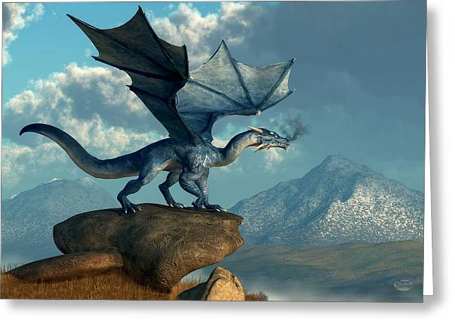 Blue Dragon Greeting Card