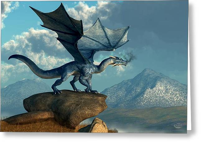 Blue Dragon Greeting Card