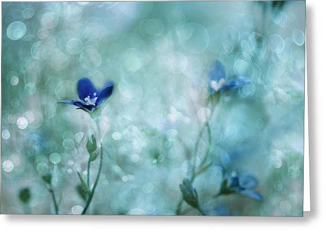 Blue Dream Land Greeting Card