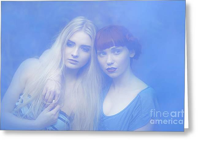 Blue Dreams Greeting Card by Svetlana Sewell