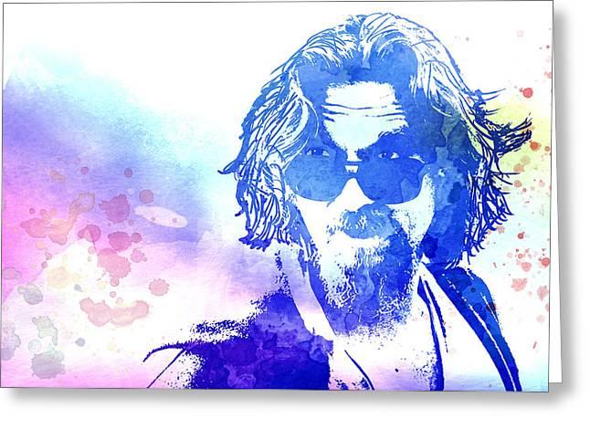 Blue Dude Greeting Card by Daniel Hagerman