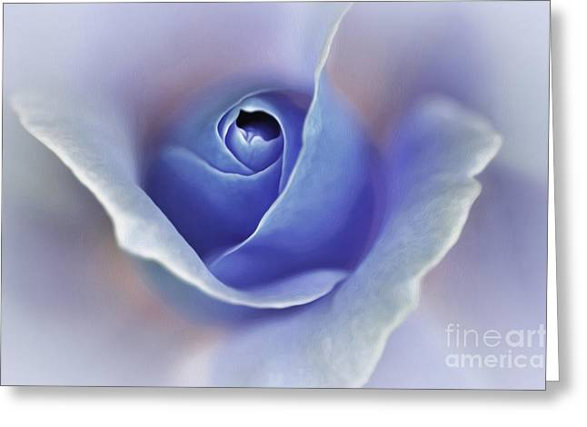 Blue Elegance Greeting Card by Kaye Menner