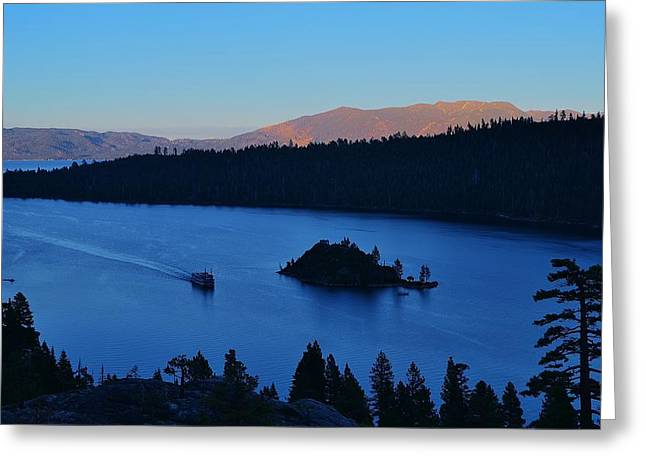 Blue Emerald Bay Lake Tahoe Greeting Card