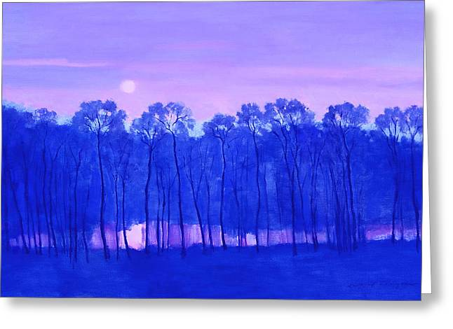 Blue Enchantment Greeting Card by J Reifsnyder